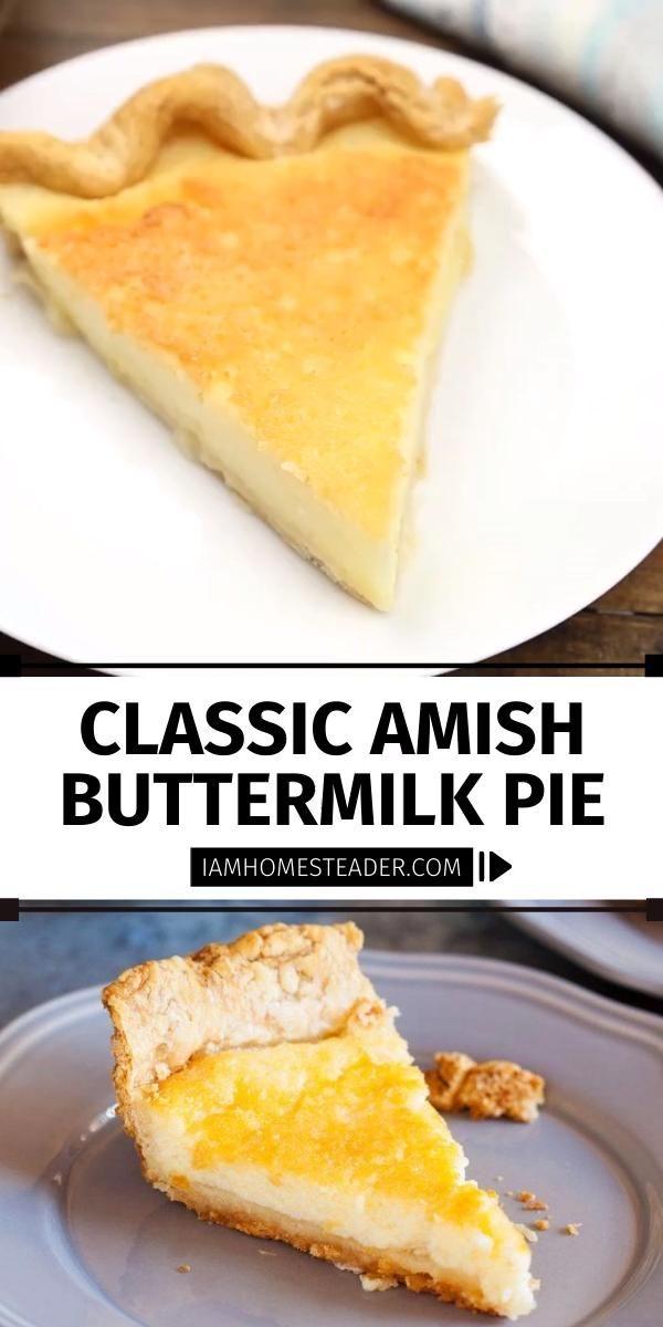 Amish Buttermilk Pie Video Recipe Video In 2020 Buttermilk Pie Buttermilk Pie Recipe Chicken Crockpot Recipes Easy