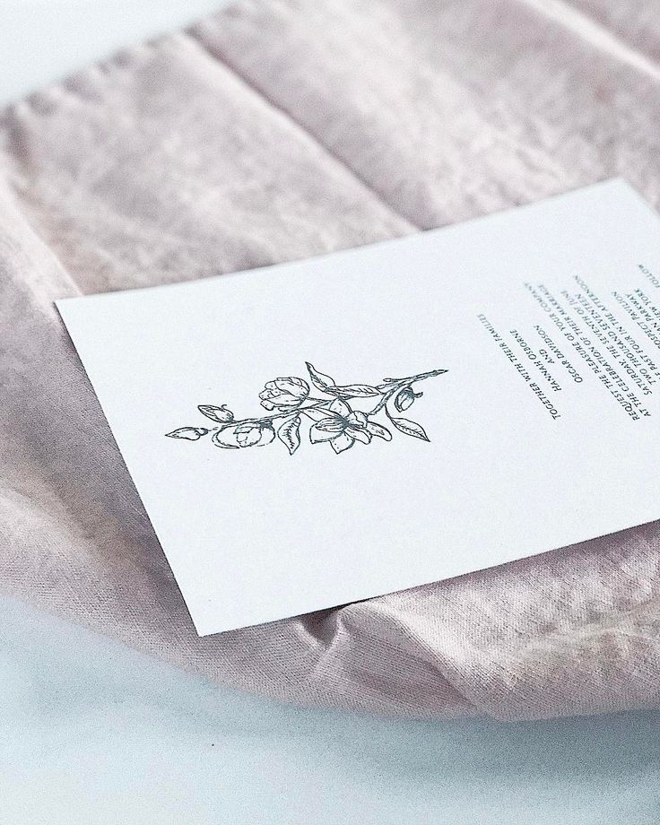 Magnolia wedding invitation // bespoke wedding, hand drawn