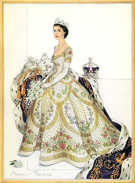 The Queens coronation dress was commissioned in October 1952 and took eight months to create.