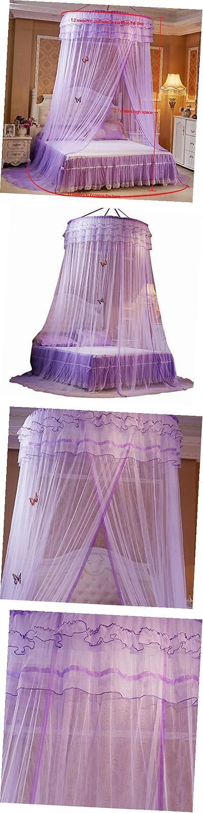 Canopies and Netting 48090: Round Mosquito Nets Luxury Princess Pastoral Lace Bed Canopy Net Crib Luminous -> BUY IT NOW ONLY: $40.3 on eBay!