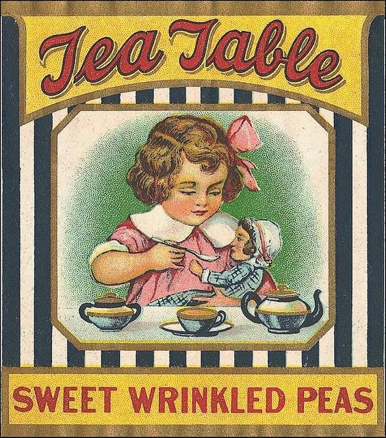 Vintage Labels 1900-1950Ephemera, Sweets Wrinkle, Teas Tables, Teas Time, Advertis Art, Vintage Labels, Wrinkle Peas, Vintage Ads, Vintage Advertising
