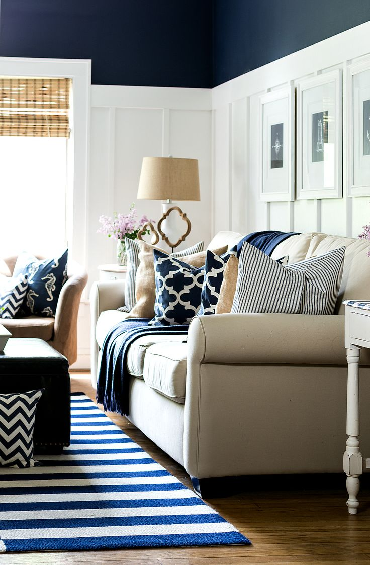 Navy Blue Living Room Best 25 Navy Living Rooms Ideas On Pinterest  Cream Lined