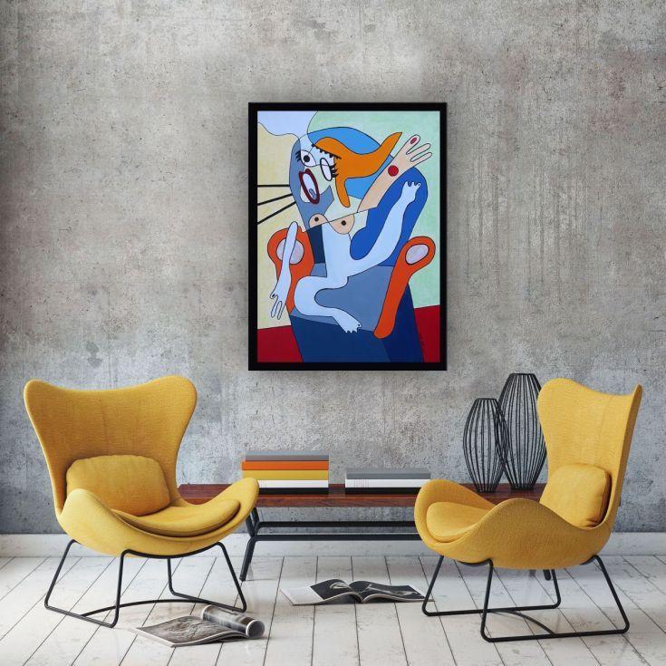 Buy Scream 7, Acrylic painting by Ninah Mars on Artfinder. #art #buyart #homedecor #interiordesign #abstract #painting #abstractpainting #artfinder #arte #contemporaryart #popart