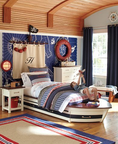 I want to be a pirate - I hope Marek is into pirates so we can do this... But want it from somewhere other than Pottery Barn so I don't have to pay $1299 for a speedboat bed...
