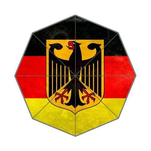 Germany Flag Background Triple Folding Rain Umbrella/Parasol/Sun Umbrellas *** Check this awesome image  : Christmas Luggage and Travel Gear