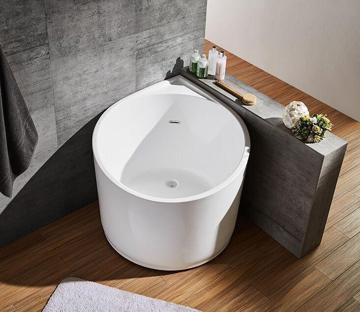 Corner Install Round Shape Bathtub Very Small Deep Soaking Japanese Bath Tub Bathtubrenovation Round Kleine Badewanne Badewanne Umbauen Japanische Badewannen