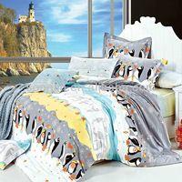 Source Pigment Print Children Penguin Bedding Cotton Duvet Cover Bed Set on m.alibaba.com