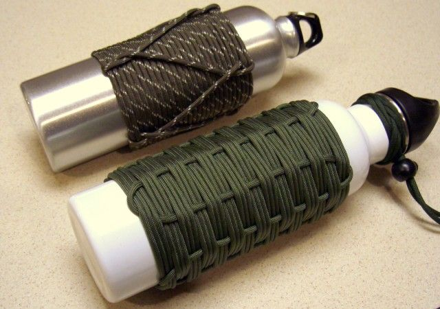 Stormdrane's Blog: Adding Paracord to Water Bottles and another Paracord Can Koozie...