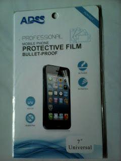 "PROFIT CELLULAR: SCREEN GUARD ADSS SPY (HITAM) PROTECTIVE FILM 7"""