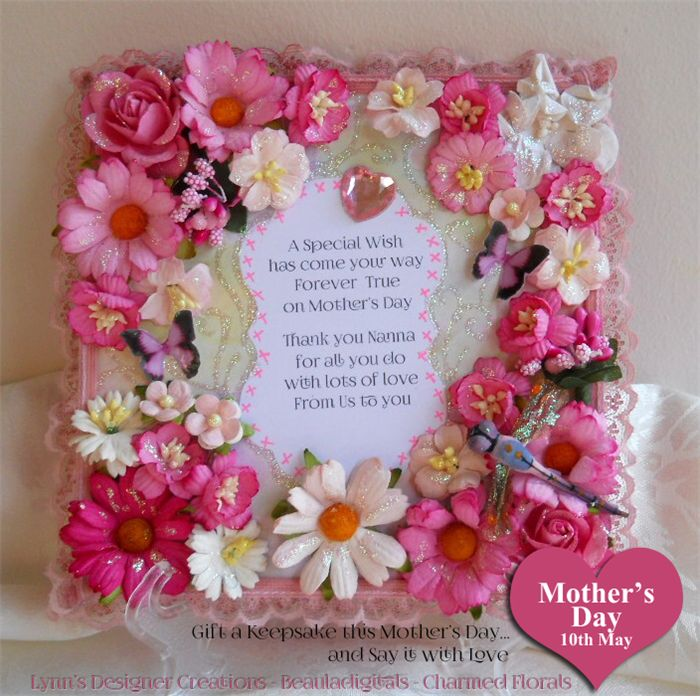 Handmade Wooden Decorative Keepsake Plaque for Mother's Day