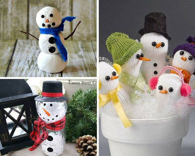 Snowman Ideas | The Ultimate Homesteader's Christmas Roundup of 2015 by Pioneer Settler at http://pioneersettler.com/ultimate-christmas-ideas-roundup/