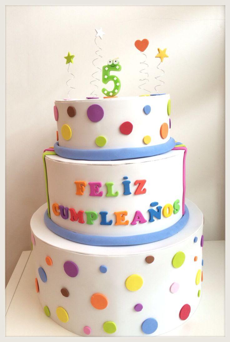 Tarta de cumpleaños. Goma Eva. Birthday cake.