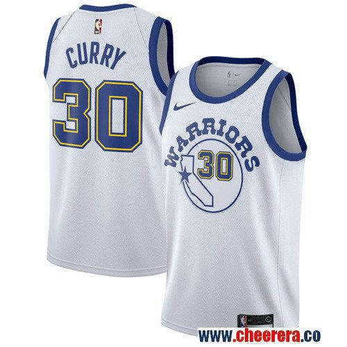 Men's Nike Golden State Warriors #30 Stephen Curry White Throwback NBA  Swingman Hardwood Classics Jersey