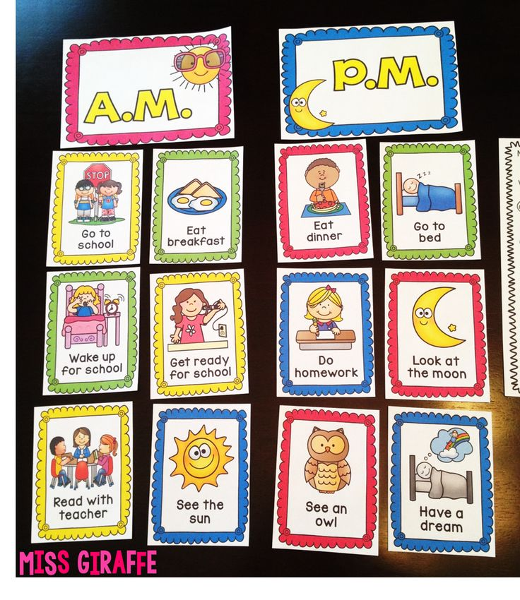 A.M. or P.M. activities and other great telling time activities and ideas at this blog