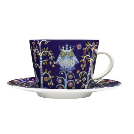 Taika Cappuccino Saucer, Blue - Heikki Orvola - Iittala - RoyalDesign.co.uk