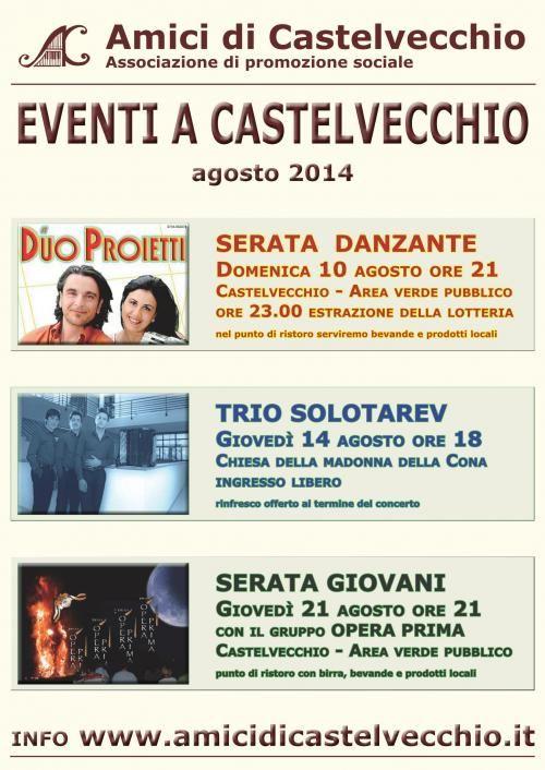 Programma Agosto a Castelvecchio Di Preci