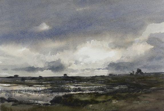 Arie Jekel | Lauwersmeer | Watercolor
