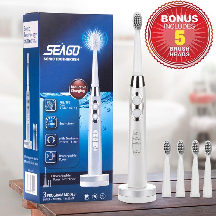 Akumulator szczoteczka elektryczna inteligentny wodoodporna sonic seago szczoteczka do zębów dla dorosłych oral hygiene głęboko czyste zęby szczotki sg-917