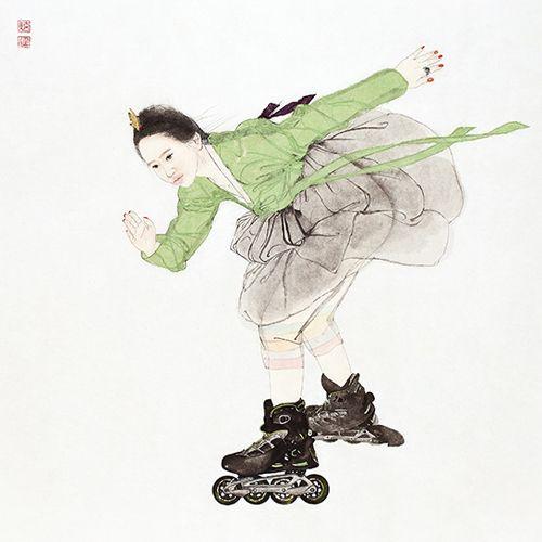 [그림 라디오]1.한복 입고 롤러스케이트 타는 '내숭녀'