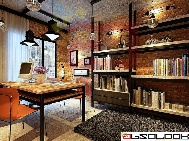Hdb 4 room bto industrial theme punggol waterway for Interior designs study room