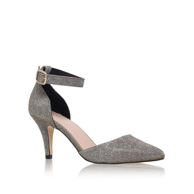 Carvela Kandice ankle strap court shoes, Bronze