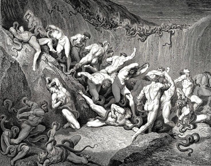 Más oscuridad y sufrimiento.. Gustave Doré -ilustraciones de la divina comedia- 1872-1883