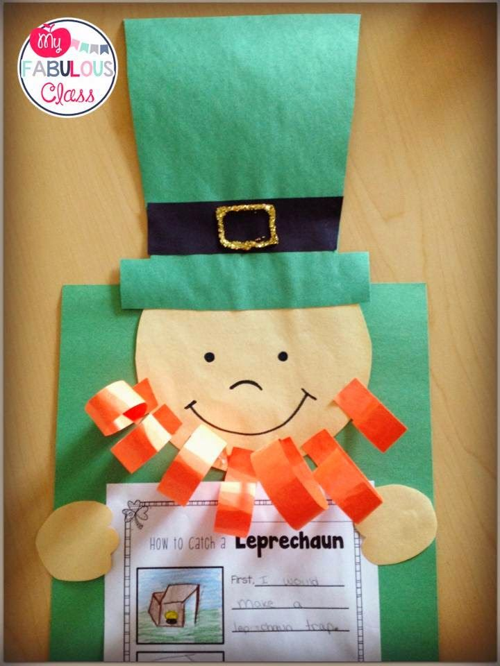 FREE Leprechaun craft and writing response for How to Catch a Leprechaun..