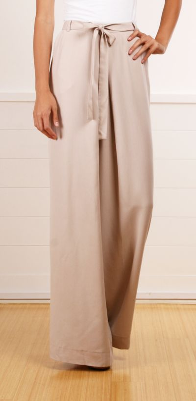 Robert Rodriguez wide-leg pleat front bisque pants