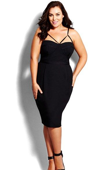 Plus Size Womens City Chic Undress Me Dress Size Large - Black $139.00 AT vintagedancer.com
