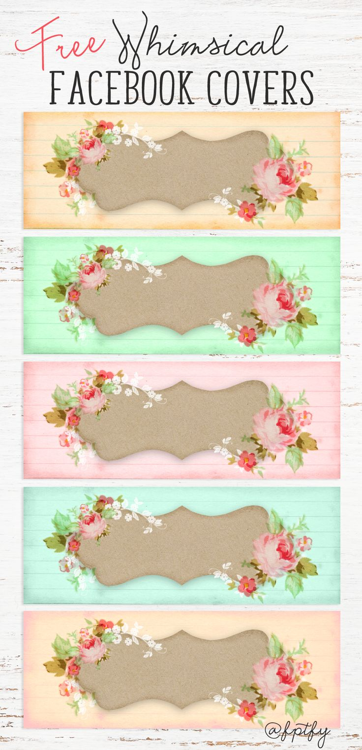 How to make scrapbook in facebook - Free Whimsical Facebook Covers Free Pretty Things For You