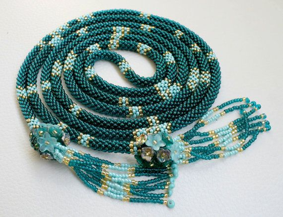 Legen Sie Extra lange Halskette Lasso und Armband auf von Mulinka