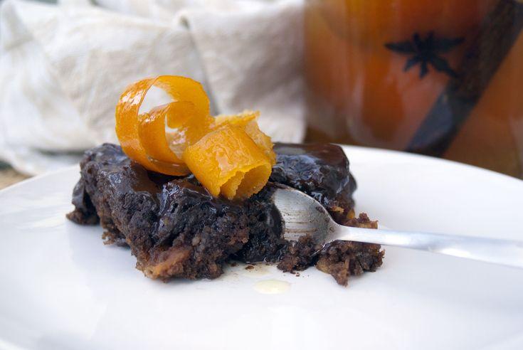 Orange and dark chocolate almond torte (recipe in Afrikaans)