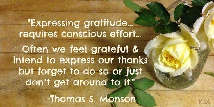President Monson - Gratitude