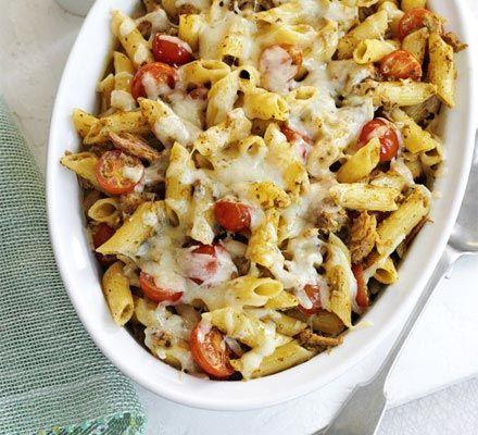 Cheesy Tuna Pesto Pasta Recipe on Yummly. @yummly #recipe