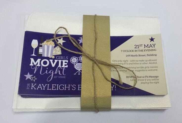Movie Night In Themed Birthday Invitations designed by Imagine If Creative Studios