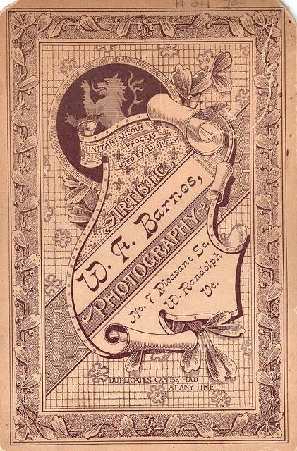 Cabinet Card Back by HA! Designs - Artbyheather, via Flickr
