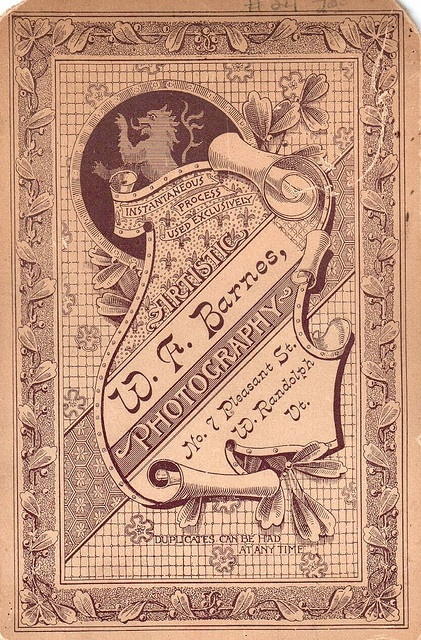 Cabinet Card Back by HA! Designs - Artbyheather, via Flickr