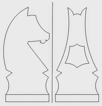 The key to 3D cutting is attaching the template to the block so that the fold line is precisely on the corner of the block. Cut the front view first, ...