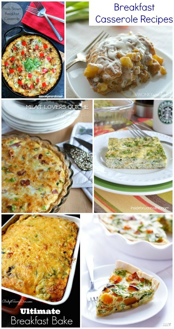 Breakfast Casserole Recipes - a delicious collection of breakfast casseroles perfect for Sunday brunch, holidays and slumber parties.
