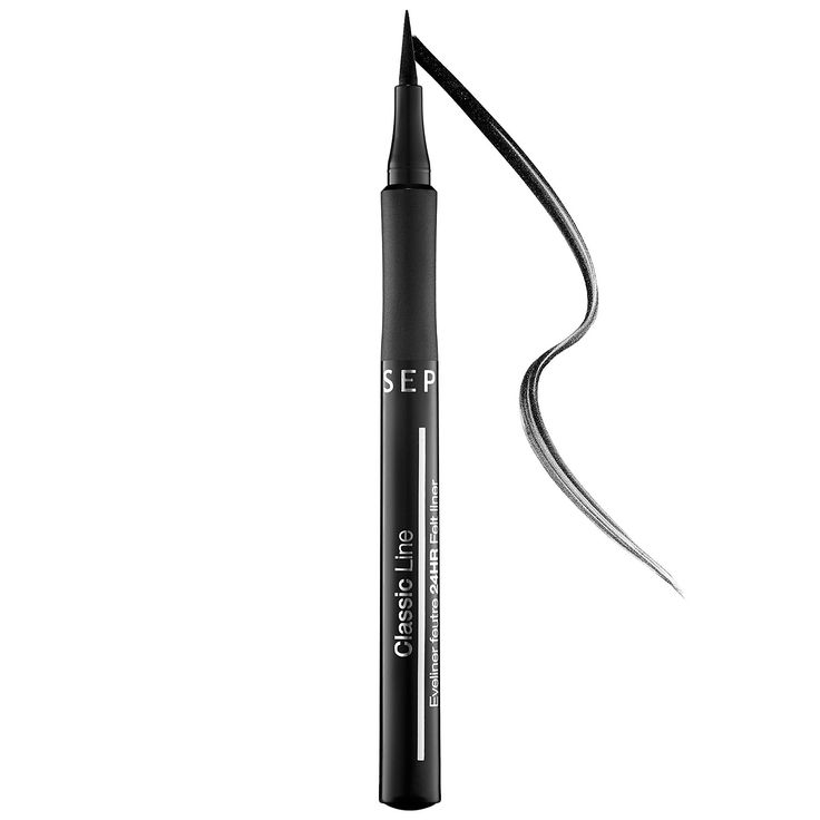 This is my new favorite felt-tip eyeliner. It stays on my lids ALL DAY! The tip was a little firm when I first used it, but now that I gotten used to it I prefer the firmer tip. It actually gives me better control. -Melissa Noel, Graphic Designer #Sephora #DailyObsessions