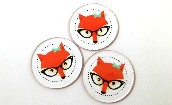 Laser Cut Smartie pants fox discs by Little Laser Lab
