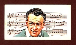 Benjamin Britten on a Brooke Bond Tea trading card