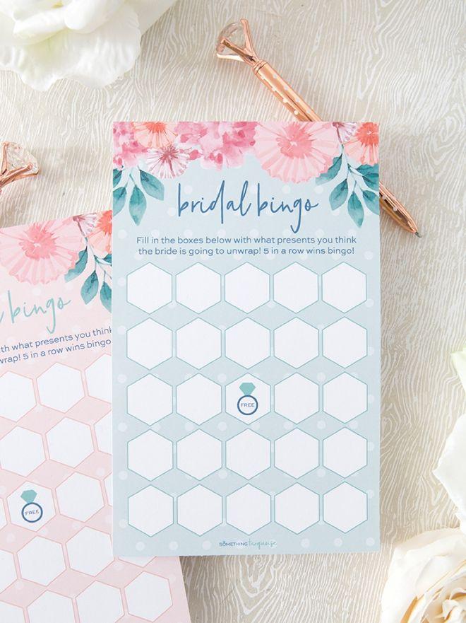 This FREE Printable Bridal Shower Gift Bingo