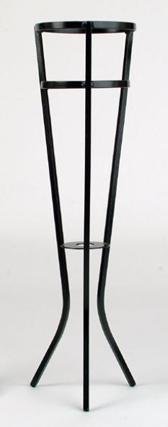 Wine Bucket Stand (Black Iron Tripod) - Item 1097-This sturdy wine bucket stand has been one of the most popular for countless years, particularly in the Hotel and Restaurant trades - Ideal for our single bottle Aluminium and Stainless Steel wine buckets.