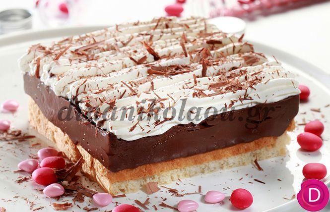 Εκμέκ σοκολατόπιτα ψυγείου | Dina Nikolaou