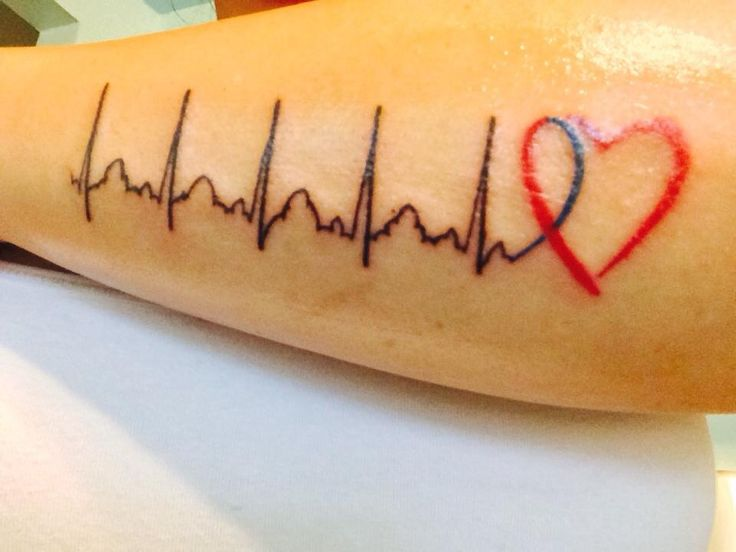My chd tattoo honoring my warrior chd heart warrior for Heart surgery tattoo