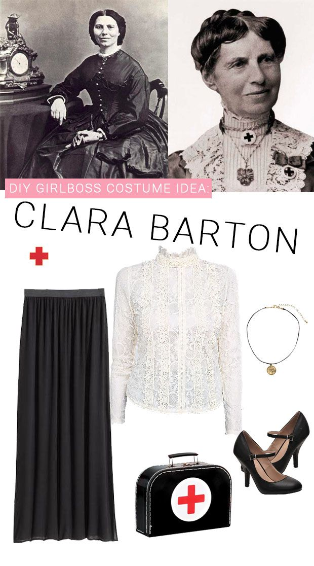 Clara Barton + 10 Girl Power Halloween Costumes that you can find right now or at the thrift store! | A Joyful Riot