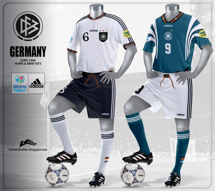 The  memorable German  shirt  that conquered the  Euro 1996 , adidas  as usual  made a  unique design  for his team,  round  neck  with bu...
