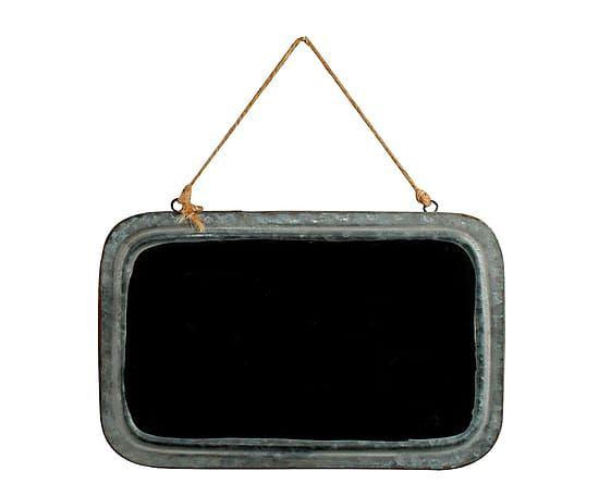 Pizarra enmarcada en metal - 28x18 cm