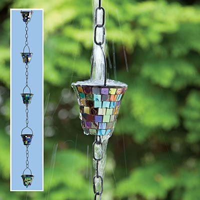 We recently featured a DIY rain chain, and since I found out about rain chains, I have been slightly collegenewhampshire938.mllly, a rain chain is a decorative chain that you can use in place of an unsightly downspout on your home. When it rains, the rain chain makes a pleasing water feature using the rain runoff from your roof.